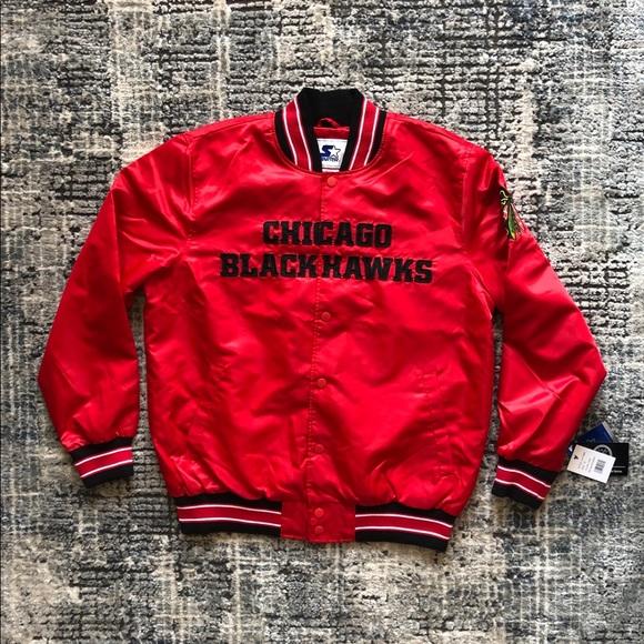 STARTER Other - NWT Authentic Blackhawks Men's Starter Jacket XL